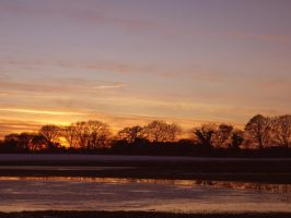 Sunset Skipwith Yorkshire by davepphotographer