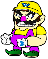 Paper Wario (Version 1) by WarioWules09