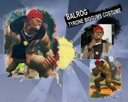 SSF4AE Balrog: Tyrone Biggums costume by sloth85