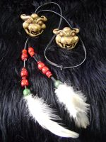 Malon and Talon's Bowser Pendants. by Artsy50