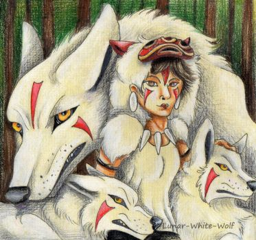 Princess Mononoke by Lunar-White-Wolf