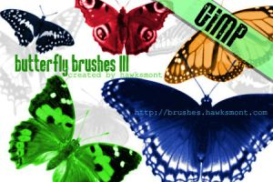 Gimp Butterfly Brushes by CindaLawrencers
