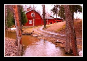 Farmhouse By The Creek by ximocampo