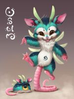 Osum the opossum by Silverfox5213