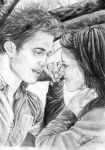 Twilight ( Edward and Bella ) by AileonArts