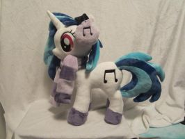 MLP Plushie Vinyl scratch WIP by Little-Broy-Peep
