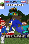 NSMHM Sonic and Mario in the Minecraft complex by radioactivefish1