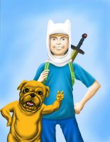 Finn and Jake by roperseid