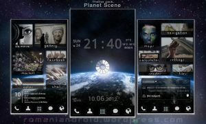 Planet Scene Android Theme Presentation by romaniandroid