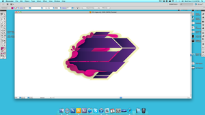 designing a logo by TraviiGFX