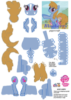 Blueberry papercraft by pony-pal64