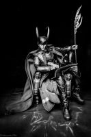 King Loki, Chillaxin' (B/W) by EmbryonicPith