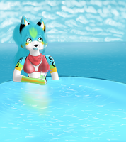 ..::Comission::.. Infinite pool. by Skailak