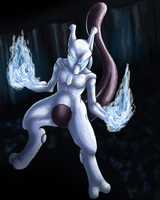 Mewtwo by fishyhylian