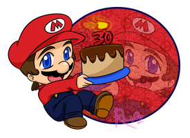 It's A-Happy 30th, Mario! by BlacknFuchsia