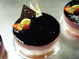 Cassis Chocolate Mousse Cake by KimmyCakes