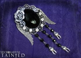 Tainted Angel Rose Brooch by Necrosarium