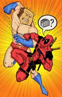 PowderedToastMan vs Deadpool 2 by KillustrationStudios