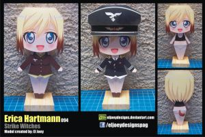 Erica Hartmann completed model by ELJOEYDESIGNS