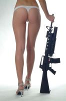 ass and gun by flymen-studio
