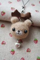 Needle Felting Bear by li-sa