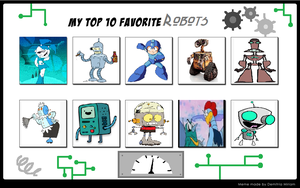 My Top 10 Favorite Robots by cartoonfanboyone