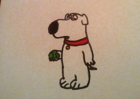 Brian with Tennis Ball by BrianGriffin12