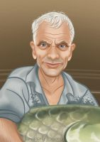 Jeremy Wade - River Monsters by becsketch