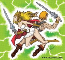 She Ra and He Man thanks 21k pv by mdavidct