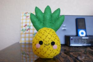 Pineapple Plushie + Tutorial~Template Link by NinaFoFina