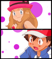 Ash x Serena by AngyLopez