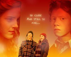 Wallpaper: Ron and Hermione by Ditalion