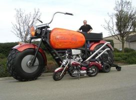Biggest Motorcycle - The Monst by intenseone345