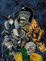 The Dark Judges Return - Colour by allistermac