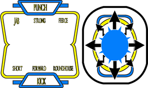 Big Blue Arcade Button Overlay - Marvel vs Capcom by FNHot