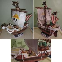 Going Merry Papercraft by Kayuna-Chan