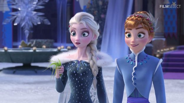 Disney Olaf Frozen Adventure: Elsa and Anna outfit by blueappleheart89