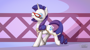 Rarity Fashion Work Trot 16:9 by mysticalpha