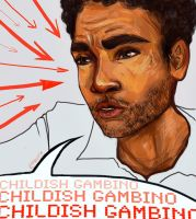 Childish Gambino mr. talk about his dick again by Ospreyghost13
