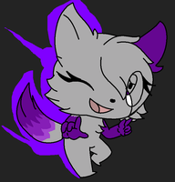 purple kitty :RQ: by saltycuccumbers
