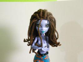 Crochet Brown Micro Braid Wig Monster High Doll by BrianaDragon