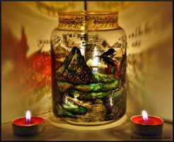 The Lonely Mountain Candle Holder by Bonniemarie