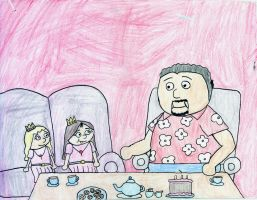 Tea Time with Sophia Grace Rosie and Fluffy Guy by DanielLaux429