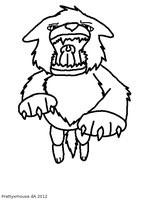 Free Attacking Wolf Lineart~ by Prettyxmouse