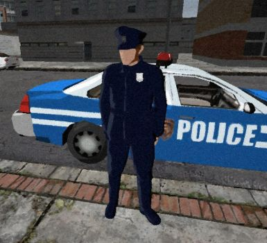 Cop and Car by aDFP