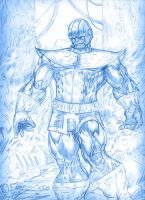 BLUE SKETCH THANOS by Mich974