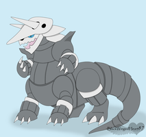 Aggron taurs by BlackWingedHeart87