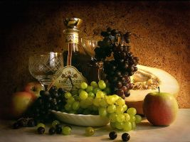 Still Life with Grapes. by kopalov
