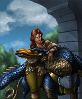 Layla and Griffon finished by Luzerrante