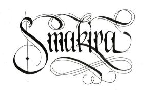 smakira calligraphy by neronin